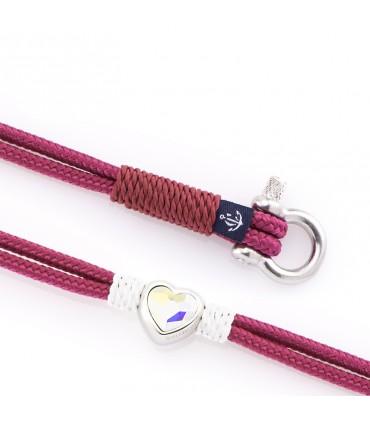 Constantin Морской браслет из парусной веревки, фиолетового цвета со Swarovski