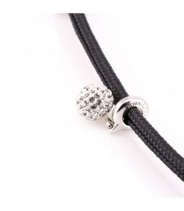 Constantin Морской браслет из парусной веревки, черного цвета со Swarovski